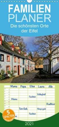 Arno Klatt: Die schönsten Orte der Eifel - Familienplaner hoch (Wandkalender 2021 , 21 cm x 45 cm, hoch), Kalender