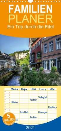 Arno Klatt: Ein Trip durch die Eifel - Familienplaner hoch (Wandkalender 2021 , 21 cm x 45 cm, hoch), Kalender