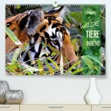 Manfred Bergermann: Wilde Tiere Indiens (Premium, hochwertiger DIN A2 Wandkalender 2021, Kunstdruck in Hochglanz), Kalender