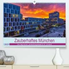 Stephan Kelle: Bezauberndes München - Die bayrische Landeshauptstadt und ihr Umland. (Premium, hochwertiger DIN A2 Wandkalender 2021, Kunstdruck in Hochglanz), Kalender