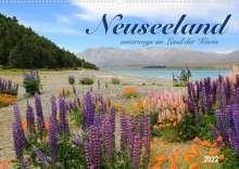 Jana Thiem-Eberitsch: Neuseeland - unterwegs im Land der Kiwis (Wandkalender 2022 DIN A2 quer), Kalender