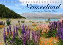 Jana Thiem-Eberitsch: Neuseeland - unterwegs im Land der Kiwis (Tischkalender 2022 DIN A5 quer), Kalender