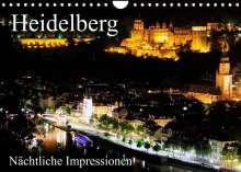 Mert Serce: Heidelberg - Nächtliche Impressionen (Wandkalender 2022 DIN A4 quer), Kalender