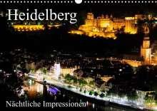 Mert Serce: Heidelberg - Nächtliche Impressionen (Wandkalender 2022 DIN A3 quer), Kalender