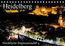 Mert Serce: Heidelberg - Nächtliche Impressionen (Tischkalender 2022 DIN A5 quer), Kalender