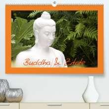 Elisabeth Stanzer: Buddha & Zitate (Premium, hochwertiger DIN A2 Wandkalender 2022, Kunstdruck in Hochglanz), Kalender