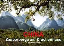 Rainer Kuczinski: CHINA - Zauberberge am Drachenfluss (Wandkalender 2022 DIN A4 quer), Kalender