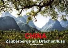 Rainer Kuczinski: CHINA - Zauberberge am Drachenfluss (Wandkalender 2022 DIN A3 quer), Kalender