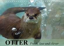 Elisabeth Stanzer: Otter. Frech, laut und clever (Wandkalender 2022 DIN A4 quer), Kalender