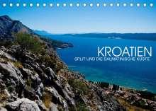 Val Thoermer: Kroatien - Split und die dalmatinische Küste (Tischkalender 2022 DIN A5 quer), Kalender
