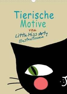 Juliane Mertens Eckhardt: Tierische Motive von Little Miss Arty Illustrationen (Wandkalender 2022 DIN A3 hoch), Kalender
