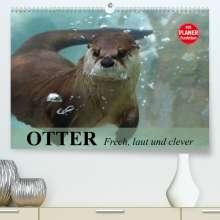 Elisabeth Stanzer: Otter. Frech, laut und clever (Premium, hochwertiger DIN A2 Wandkalender 2022, Kunstdruck in Hochglanz), Kalender