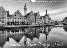 Andreas Klesse: Flanderns Perlen Brügge + Gent (Wandkalender 2022 DIN A4 quer), Kalender