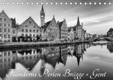 Andreas Klesse: Flanderns Perlen Brügge + Gent (Tischkalender 2022 DIN A5 quer), Kalender