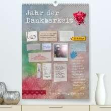 Ulrike Gruch: Jahr der Dankbarkeit - Scrapbooking-Kalender (Premium, hochwertiger DIN A2 Wandkalender 2022, Kunstdruck in Hochglanz), Kalender
