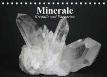 Elisabeth Stanzer: Minerale. Kristalle und Edelsteine (Tischkalender 2022 DIN A5 quer), Kalender