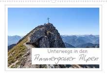 Andreas Vonzin: Unterwegs in den Ammergauer Alpen (Wandkalender 2022 DIN A3 quer), Kalender
