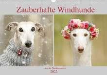 Kathrin Köntopp: Zauberhafte Windhunde (Wandkalender 2022 DIN A3 quer), Kalender