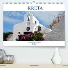 Peter Schneider: Kreta - Griechischer Inseltraum (Premium, hochwertiger DIN A2 Wandkalender 2022, Kunstdruck in Hochglanz), Kalender