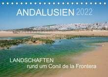 Doris Müller: Andalusien - Landschaften rund um Conil de la Frontera (Tischkalender 2022 DIN A5 quer), Kalender