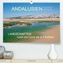 Doris Müller: Andalusien - Landschaften rund um Conil de la Frontera (Premium, hochwertiger DIN A2 Wandkalender 2022, Kunstdruck in Hochglanz), Kalender