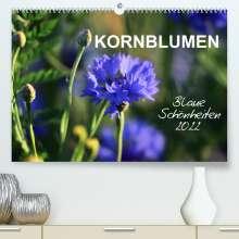 Sabine Löwer: Kornblumen - Blaue Schönheiten (Premium, hochwertiger DIN A2 Wandkalender 2022, Kunstdruck in Hochglanz), Kalender