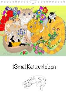 Silke Thümmler: 13mal Katzenleben (Wandkalender 2022 DIN A4 hoch), Kalender