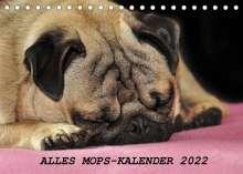 Sonja Hofmann: Alles Mops-Kalender 2022 (Tischkalender 2022 DIN A5 quer), Kalender