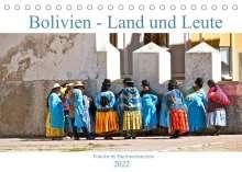 Michael Schäffer: Bolivien - Land und Leute (Tischkalender 2022 DIN A5 quer), Kalender