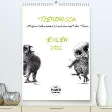 Stefan Kahlhammer: Tieronisch Eulen (Premium, hochwertiger DIN A2 Wandkalender 2022, Kunstdruck in Hochglanz), Kalender