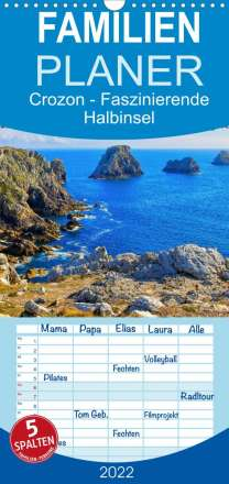 Lianem: Crozon - Faszinierende Halbinsel im Westen der Bretagne (Wandkalender 2022 , 21 cm x 45 cm, hoch), Kalender