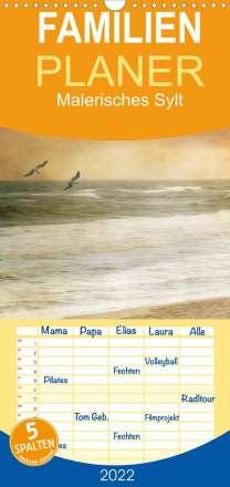 Anja Otto: Malerisches Sylt - Familienplaner hoch (Wandkalender 2022 , 21 cm x 45 cm, hoch), Kalender