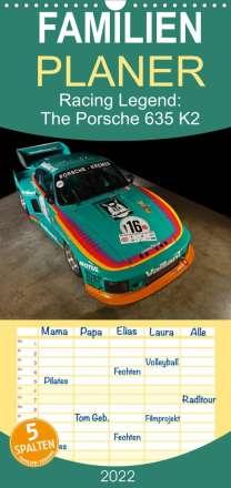 Stefan Bau: Racing Legend: The Porsche 635 K2 - Familienplaner hoch (Wandkalender 2022 , 21 cm x 45 cm, hoch), Kalender