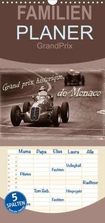 Stefan Bau: Grand Prix historique de Monaco - Familienplaner hoch (Wandkalender 2022 , 21 cm x 45 cm, hoch), Kalender