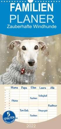 Kathrin Köntopp: Zauberhafte Windhunde (Wandkalender 2022 , 21 cm x 45 cm, hoch), Kalender