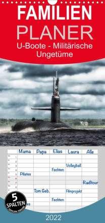 Elisabeth Stanzer: U-Boote - Militärische Ungetüme (Wandkalender 2022 , 21 cm x 45 cm, hoch), Kalender