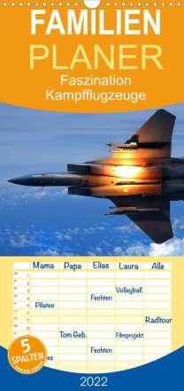 Elisabeth Stanzer: Faszination Kampfflugzeuge  - Familienplaner hoch (Wandkalender 2022 , 21 cm x 45 cm, hoch), Kalender
