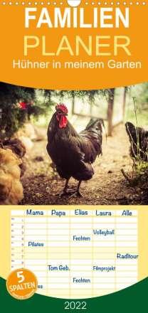 Manuela Meyer: Hühner in meinem Garten (Wandkalender 2022 , 21 cm x 45 cm, hoch), Kalender