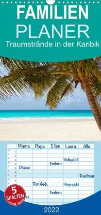 Elisabeth Stanzer: Traumstrände in der Karibik (Wandkalender 2022 , 21 cm x 45 cm, hoch), Kalender