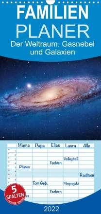 Elisabeth Stanzer: Der Weltraum. Gasnebel und Galaxien (Wandkalender 2022 , 21 cm x 45 cm, hoch), Kalender