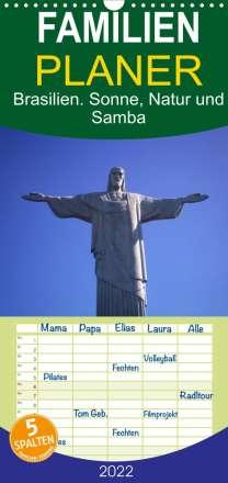 Elisabeth Stanzer: Brasilien. Sonne, Natur und Samba (Wandkalender 2022 , 21 cm x 45 cm, hoch), Kalender