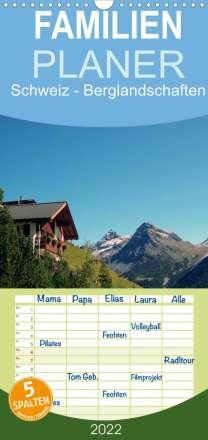 Peter Schneider: Schweiz - Berglandschaften (Wandkalender 2022 , 21 cm x 45 cm, hoch), Kalender