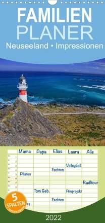 Elisabeth Stanzer: Neuseeland . Impressionen (Wandkalender 2022 , 21 cm x 45 cm, hoch), Kalender