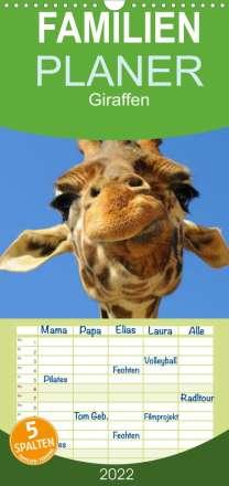 Elisabeth Stanzer: Giraffen (Wandkalender 2022 , 21 cm x 45 cm, hoch), Kalender