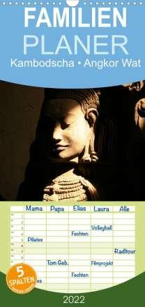 Elisabeth Stanzer: Kambodscha . Angkor Wat (Wandkalender 2022 , 21 cm x 45 cm, hoch), Kalender