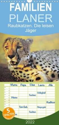 Elisabeth Stanzer: Raubkatzen. Die leisen Jäger  - Familienplaner hoch (Wandkalender 2022 , 21 cm x 45 cm, hoch), Kalender