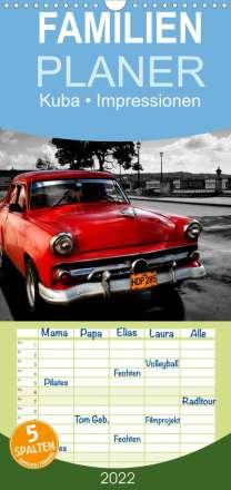 Elisabeth Stanzer: Kuba . Impressionen  - Familienplaner hoch (Wandkalender 2022 , 21 cm x 45 cm, hoch), Kalender