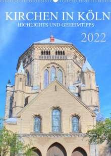 sell@Adobe Stock: Kirchen in Köln - Highlights und Geheimtipps (Wandkalender 2022 DIN A2 hoch), Kalender