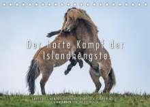 Ingo Gerlach: Der harte Kampf der Islandhengste. (Tischkalender 2022 DIN A5 quer), Kalender
