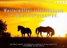 Ingo Gerlach: Westerwälder Islandhengste in den Jahreszeiten. (Tischkalender 2022 DIN A5 quer), Kalender